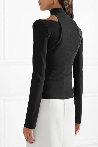 b558f0483a2b84 Beaufille - Momus Cutout Stretch-jersey Turtleneck Top - Black ...