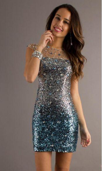Lace Short Beaded Sleeveless.dress