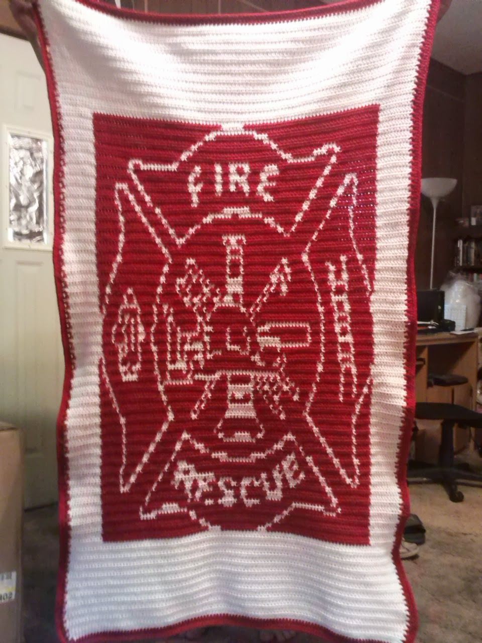 Family, Books and Crochet...Oh My!: Fire Dept. Afghan - Written Out ...