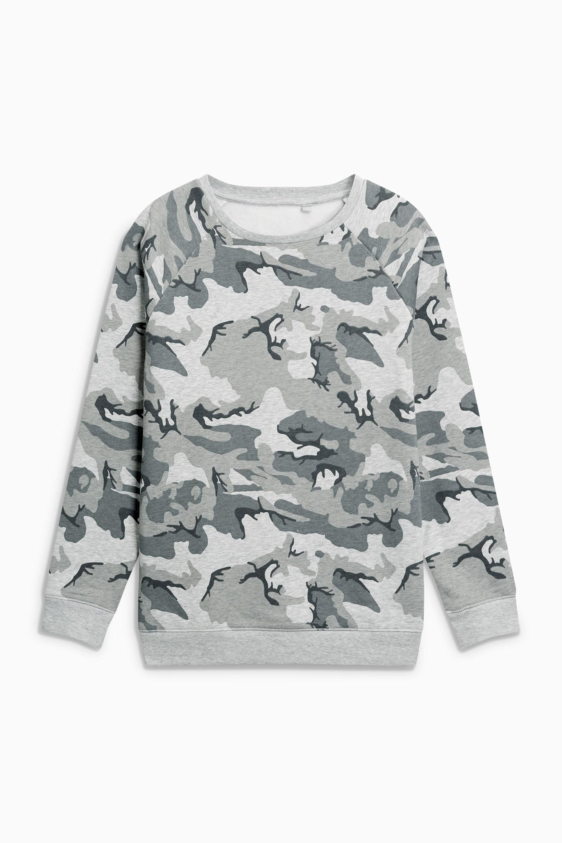 da5b571a4b6b Buy Camouflage Oversized Crew Top (3-16yrs) from the Next UK online ...