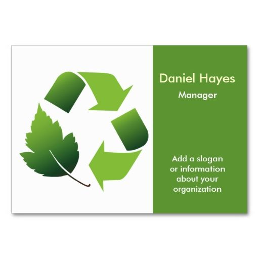 Recycling company business card eco green business card templates recycle business cards i love this design it is available for customization or ready to buy as is all you need is to add your business info to this colourmoves