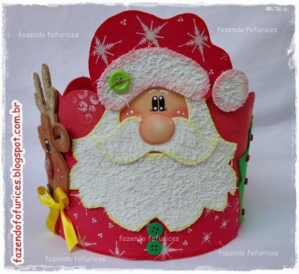 Porta Panetone Lembrancinhas De Natal Em Eva Artesanato De
