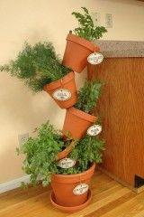 Flip flop flower pots used for a container herb garden keep the plants that love dryer soil - Indoor krautergarten ...