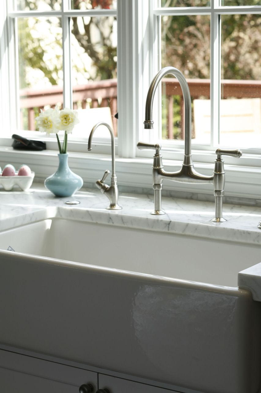 This Beautiful ROHL Sink And Faucet Give Your Kitchen A Classic Look That  Is Always In Style! #ROHLWaterApp