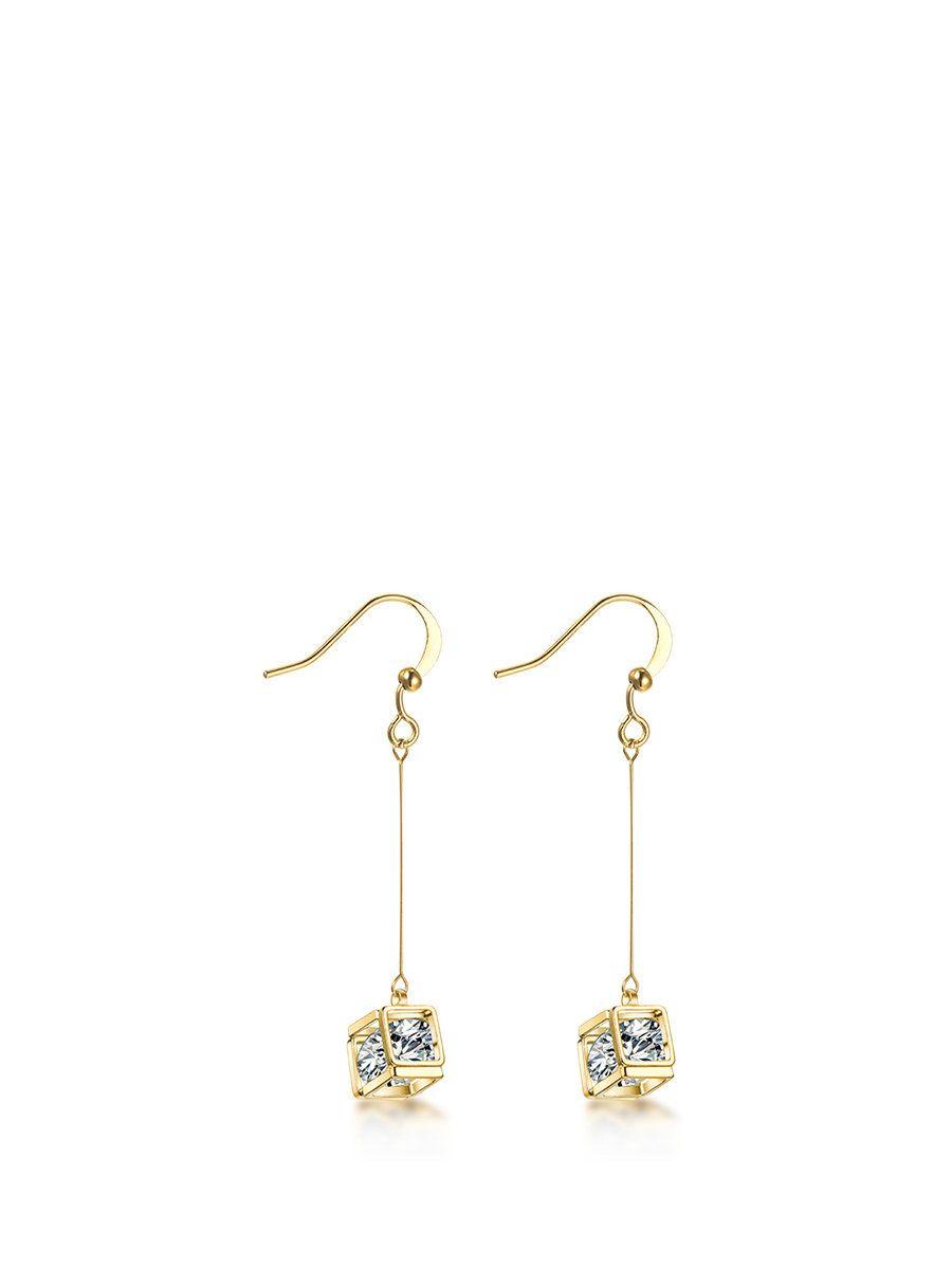 #AdoreWe #StyleWe Designer Earrings - Designer T400 Golden Square Alloy Earrings - AdoreWe.com