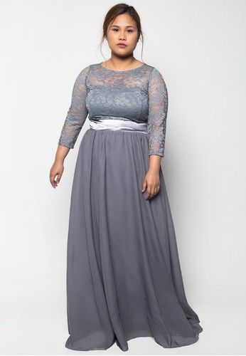 PD Mirabelle Dress from Get Laud in grey_1   Plus Size Gown ...