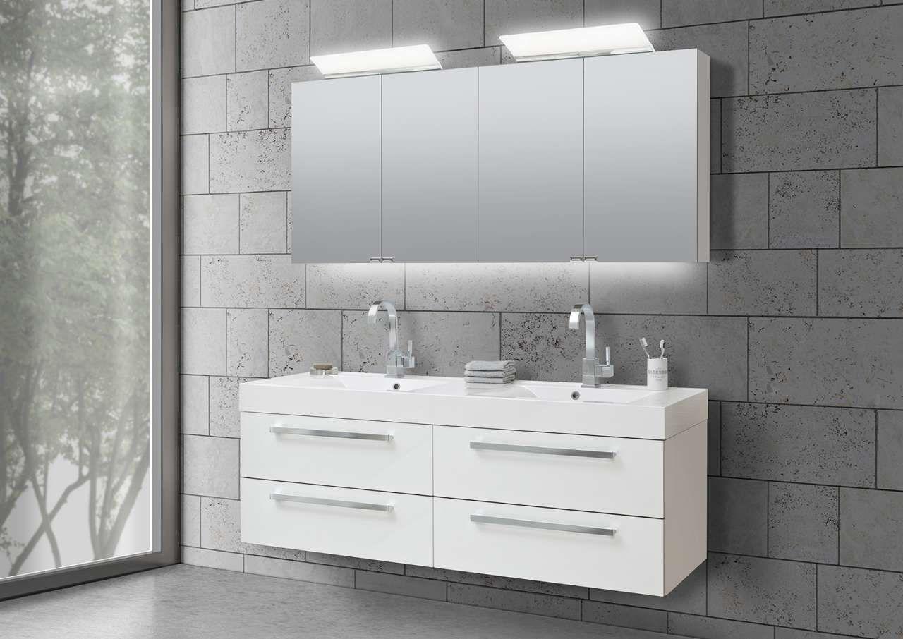 Badezimmer spiegelschrank doppelwaschbecken slagerijstok for Spiegelschrank doppelwaschbecken