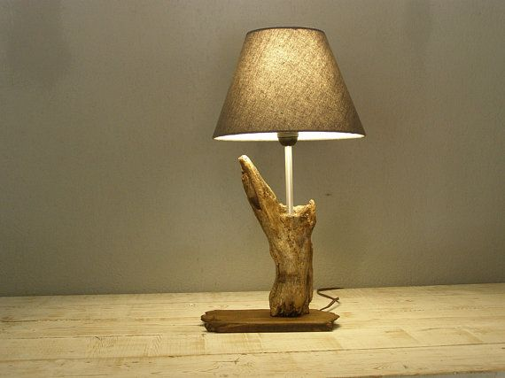 Driftwood Table Lamp Weathered Wood Lamp Unique Table Lamp