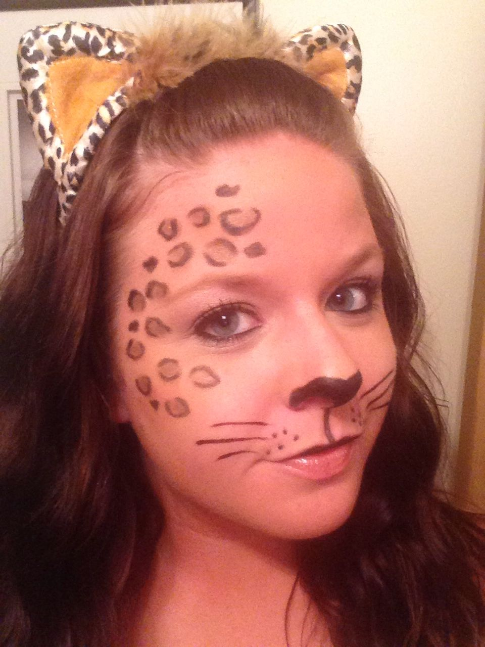 leopard makeup halloween pinterest fasching. Black Bedroom Furniture Sets. Home Design Ideas