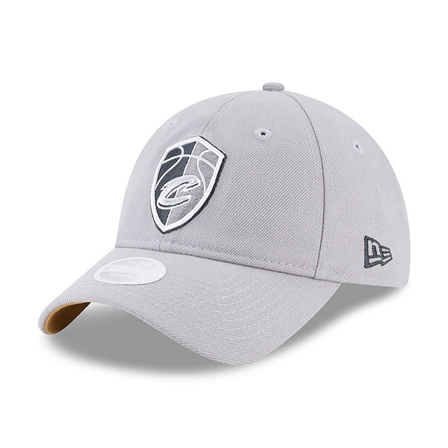 00acaad4 Women's Cleveland Cavaliers New Era Gray NBA City Series 9TWENTY Adjustable  Hat, $23.99