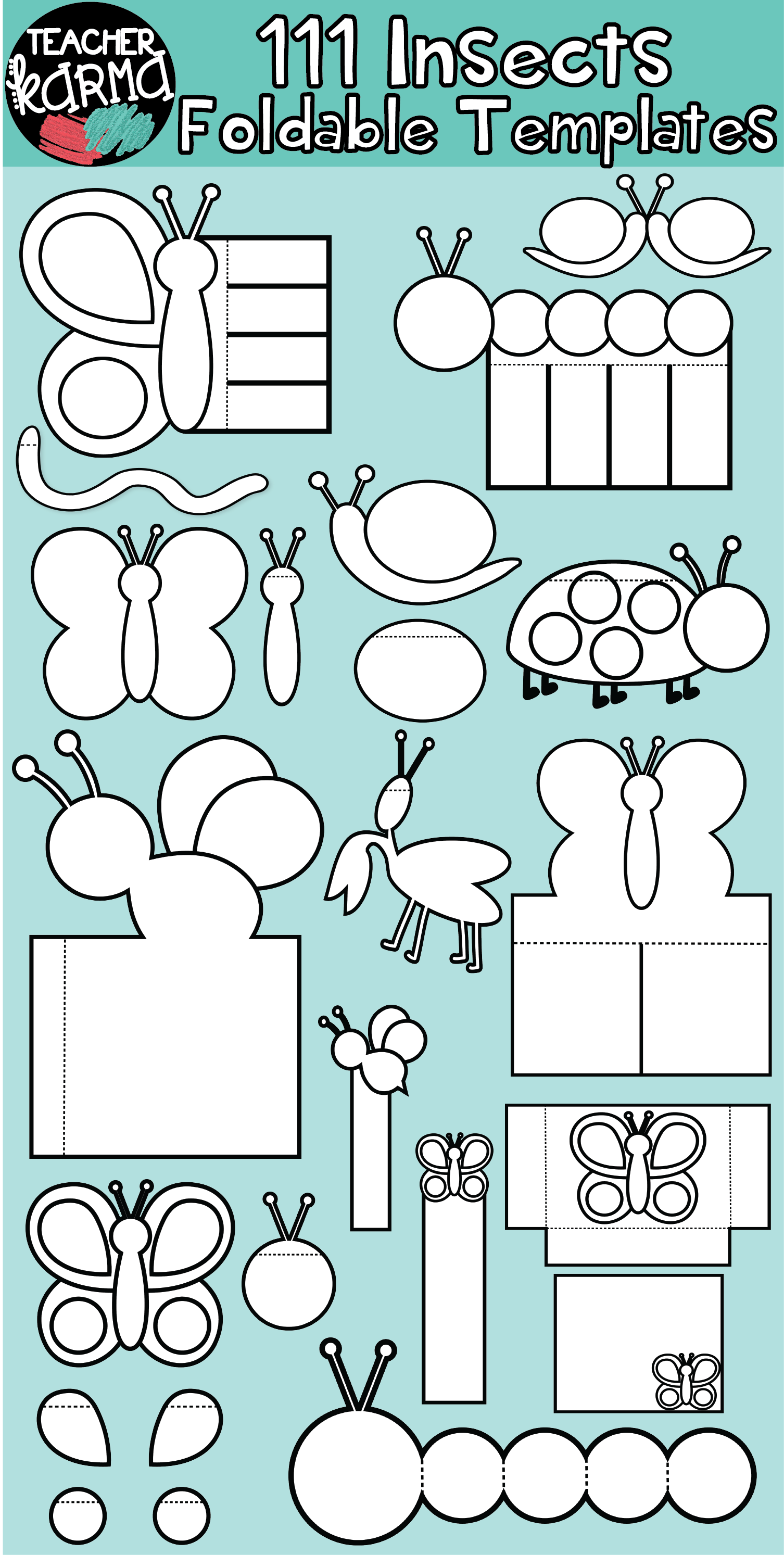 Insects Bugs 111 Foldables Interactives Flip Book