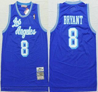 fe3c48e4fcec Los Angeles Lakers Jersey 8 Kobe Bryant 1996-97 Blue Hardwood Classics Soul  Swingman Throwback Jerseys
