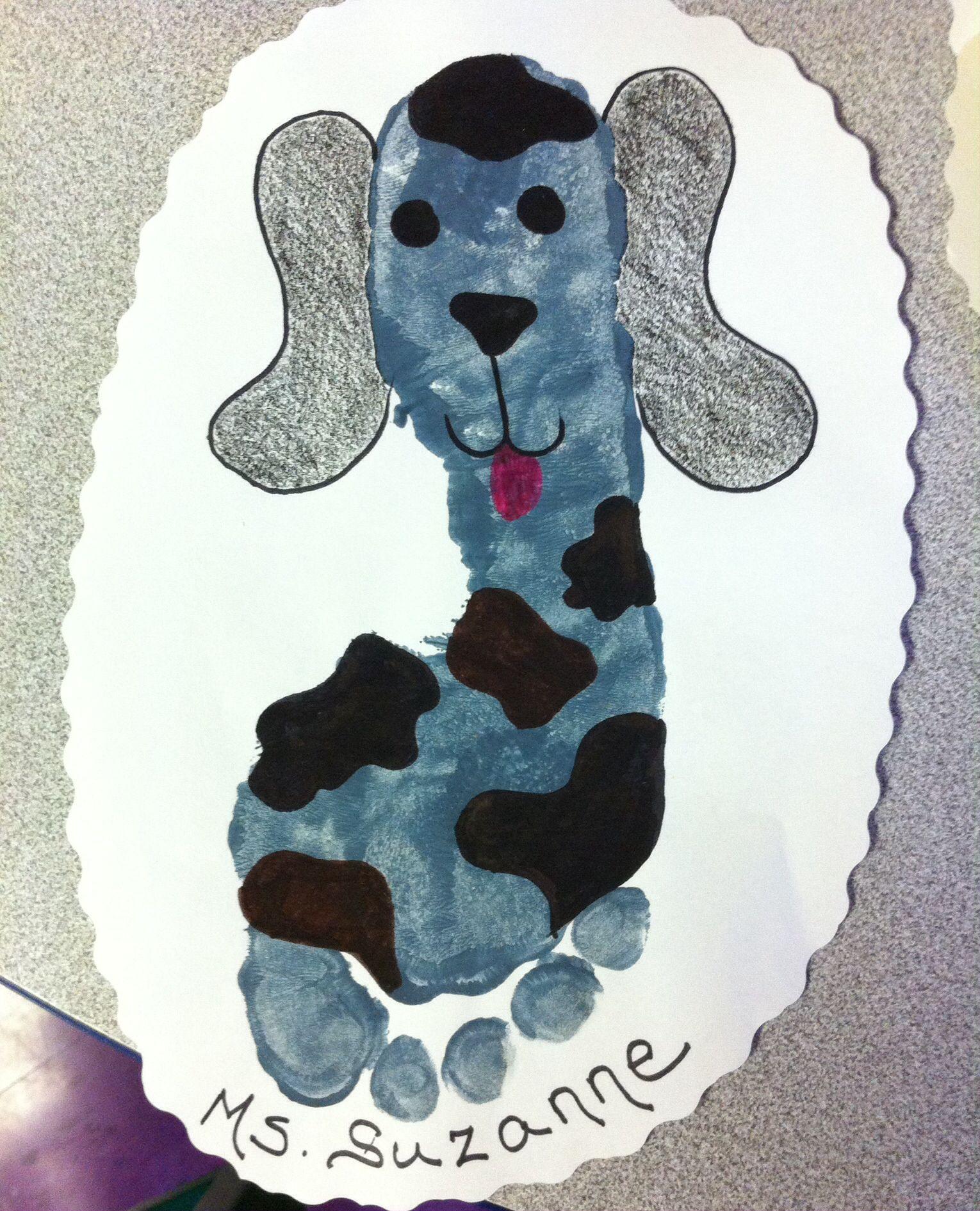Dog Footprint Craft For Preschoolers