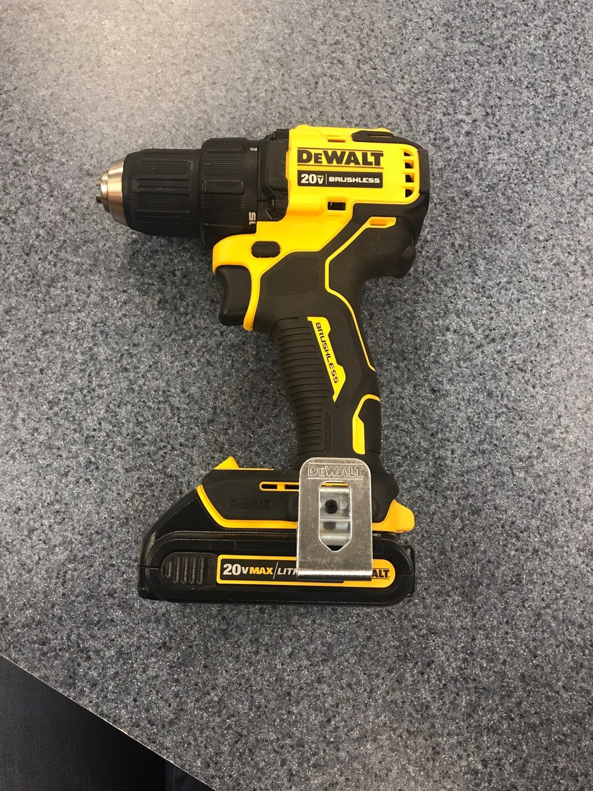 Dewalt 20v 1 2 Cordless Drill Brushless With 20v Lithium Ion Battery Model Dcd708 No Charger Took And Battery Only U Dewalt Dewalt Tools Cordless Drill