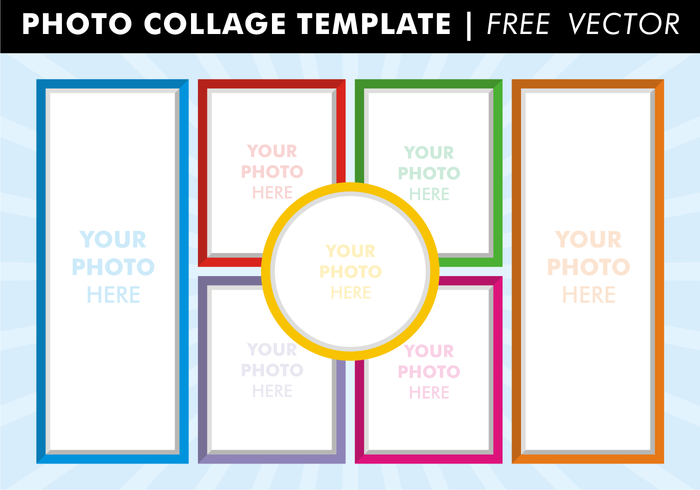 Photo Collage Templates Free Vector | FRAMES▣CUTOUT▣MULTi▣FREE ...