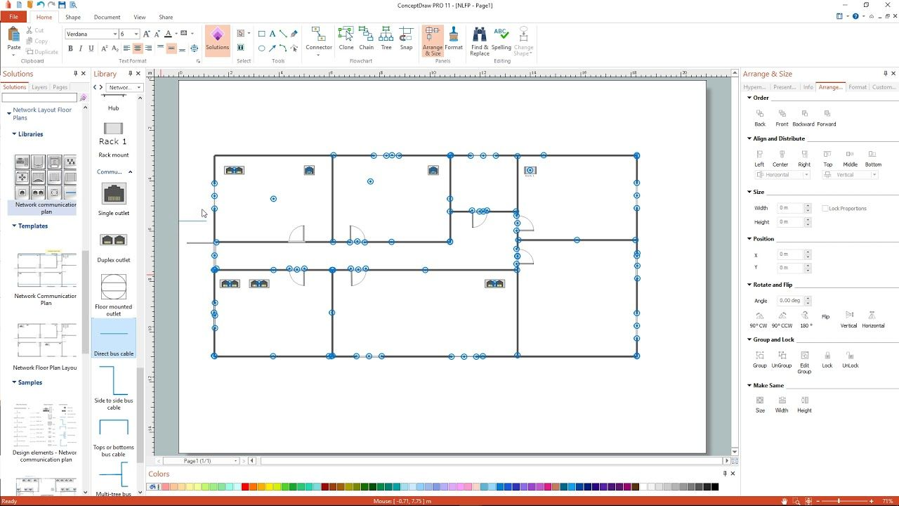 How To Create A Network Layout Floor Plan How To Plan Floor Plan Layout Floor Plans