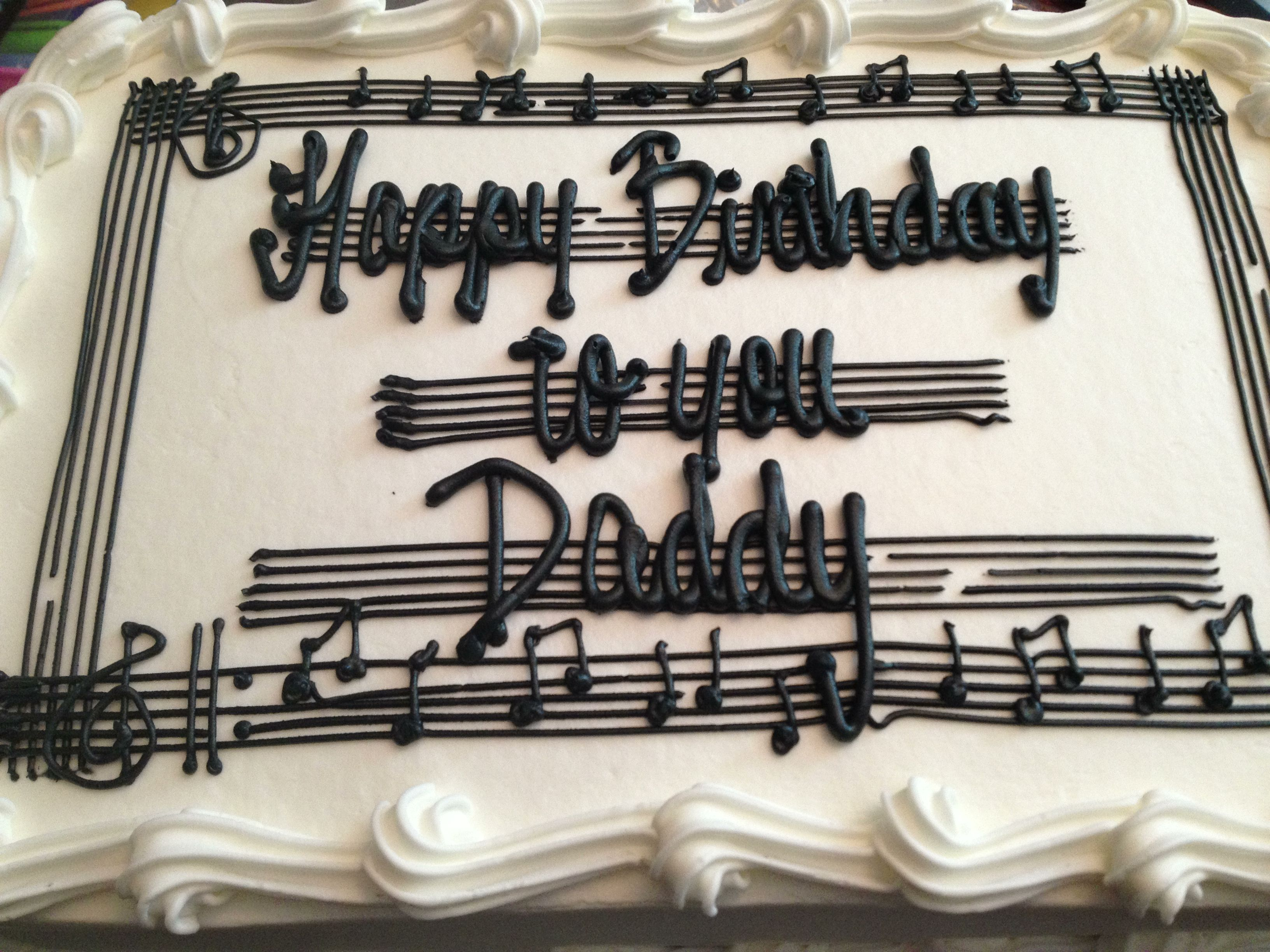 Cake For Daddy Music Themed Cakes Music Cakes Music Birthday Cakes