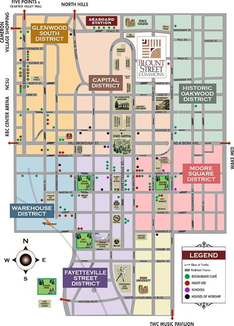 Downtown Raleigh   Sarah   Pinterest   Raleigh map, Map and Area map