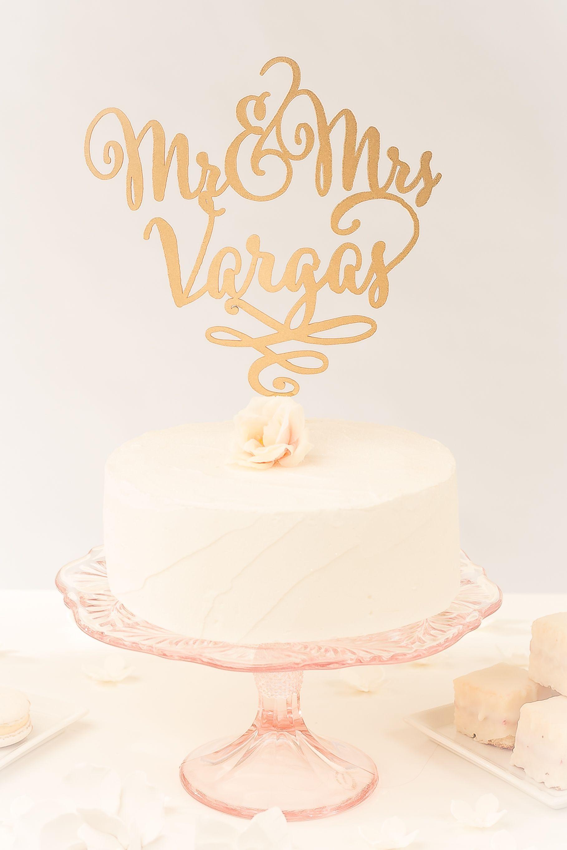Custom last name cake topper wedding cake pinterest custom
