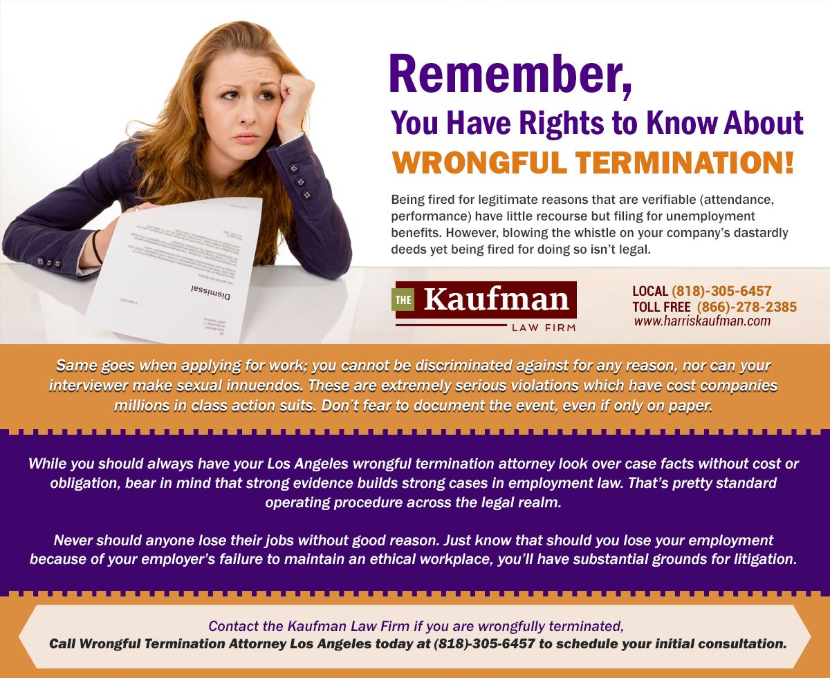 Wrongful Termination Attorney Los Angeles With Images Attorneys