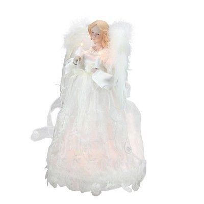 Kurt Adler 12 Divine Ivory Lighted Angel Christmas Tree Topper