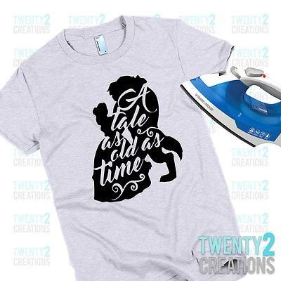 DISNEY*****I/'M HER BEAUTY AND THE BEAST***********  SHIRT IRON ON TRANSFER
