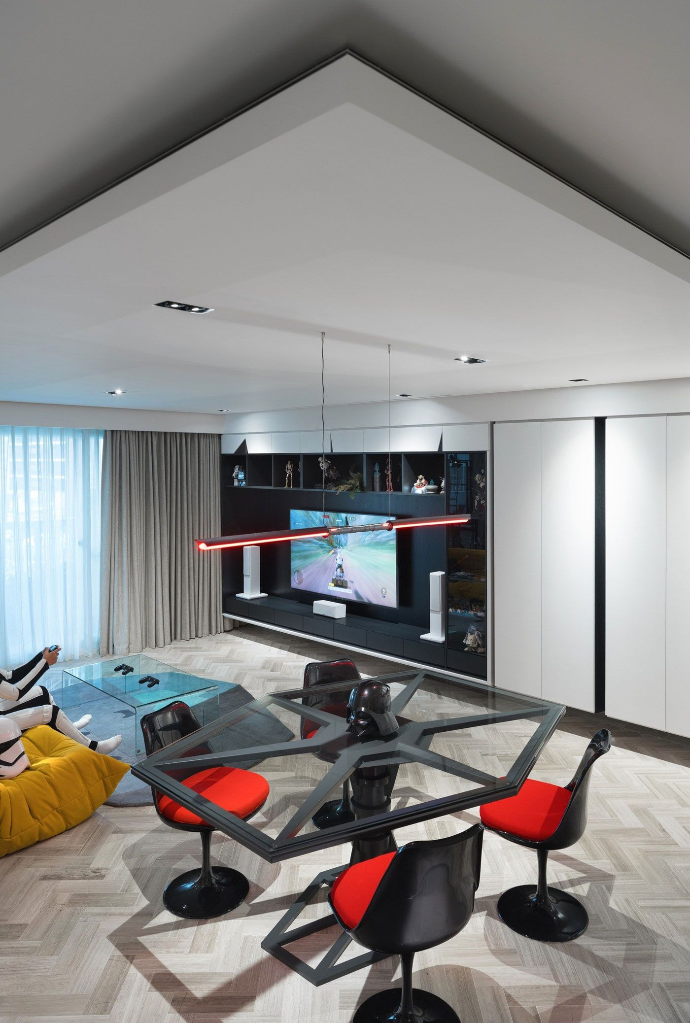 A Star Wars Themed Apartment In Taiwan By White Interior Design Star Wars Living Room Interior Design Bedroom White Interior Design