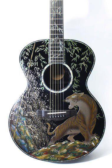 Tiger Guitar Guitar Japanese Guitar Best Acoustic Guitar
