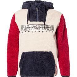 Photo of Napapijri hooded sweatshirt men, microfiber, beige Napapijri