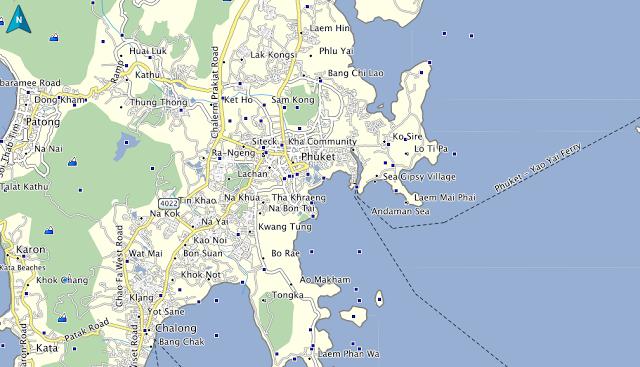mitsubishi thailand, kensington thailand, mio thailand, panasonic thailand, oakley thailand, on garmin map thailand
