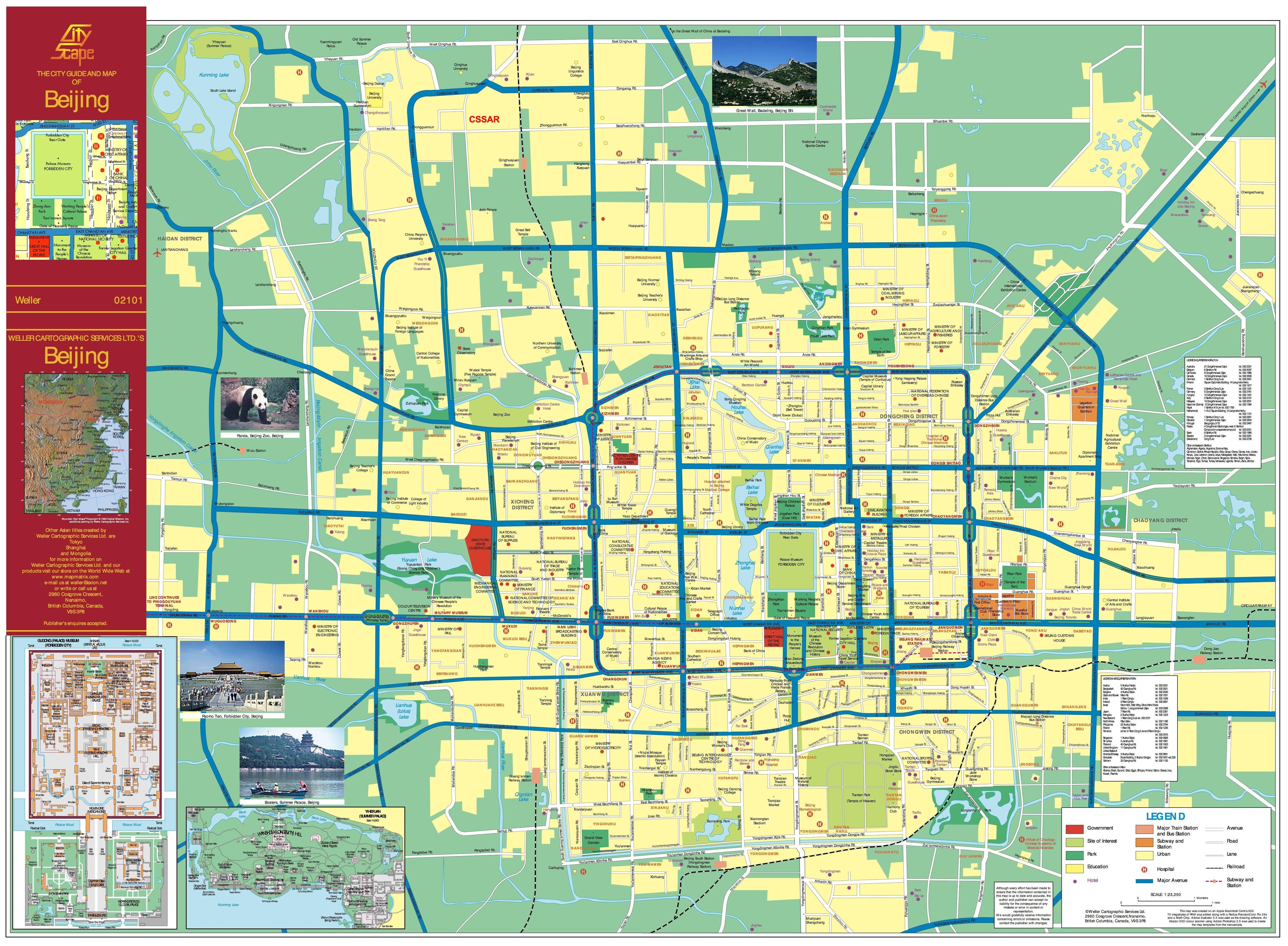 Beijing City Map Beijing Map Beijing Tourist Map Beijing City