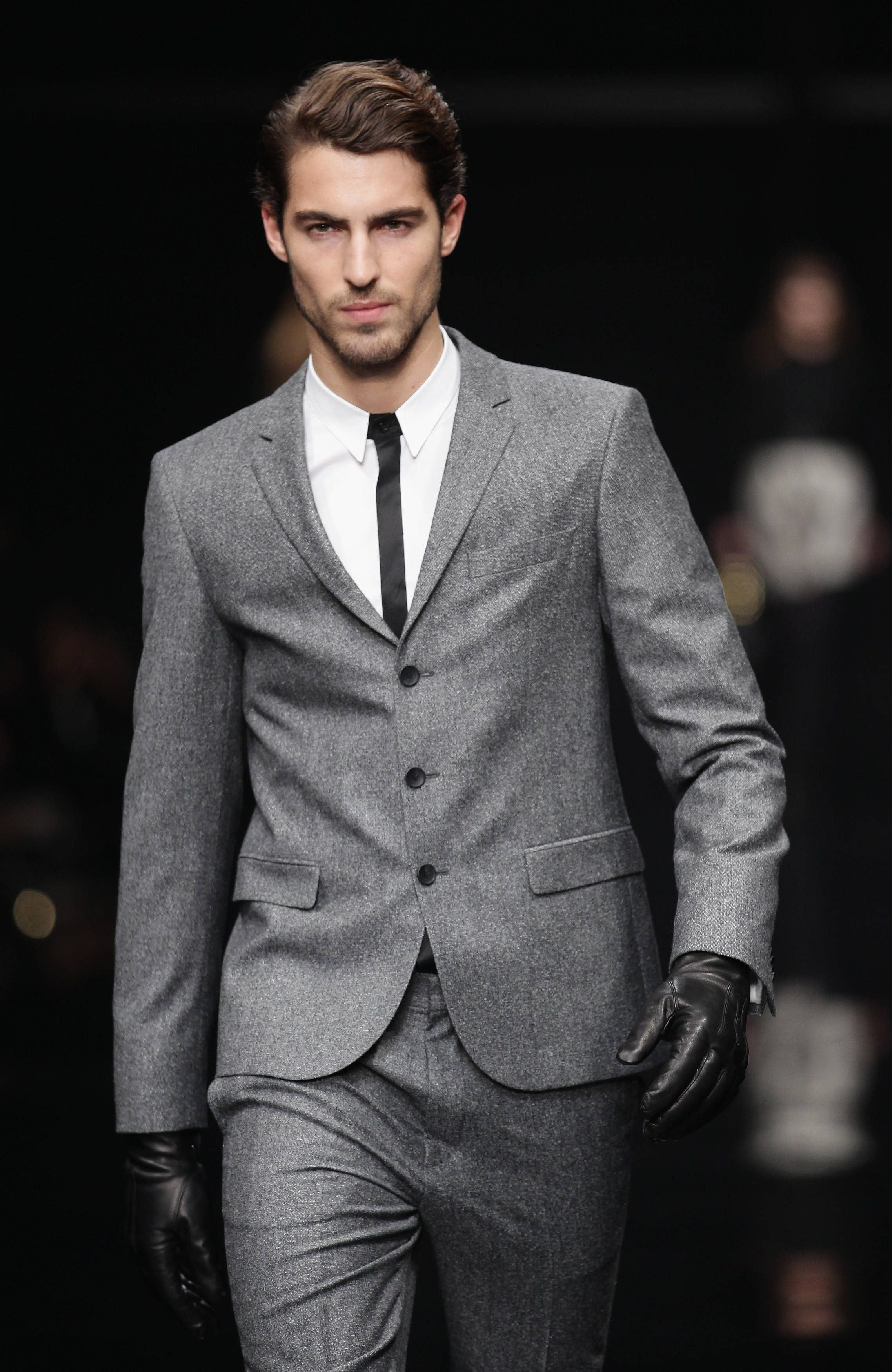 Goal for self: Loose tons of pounds and get into this Hugo Boss suit and  maybe also this model? OK well at least the suit .