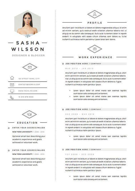 5 Pagina Curriculum Vitae Plantilla Pack De Plantilla De Cv Etsy Cv Template Resume Template How To Memorize Things