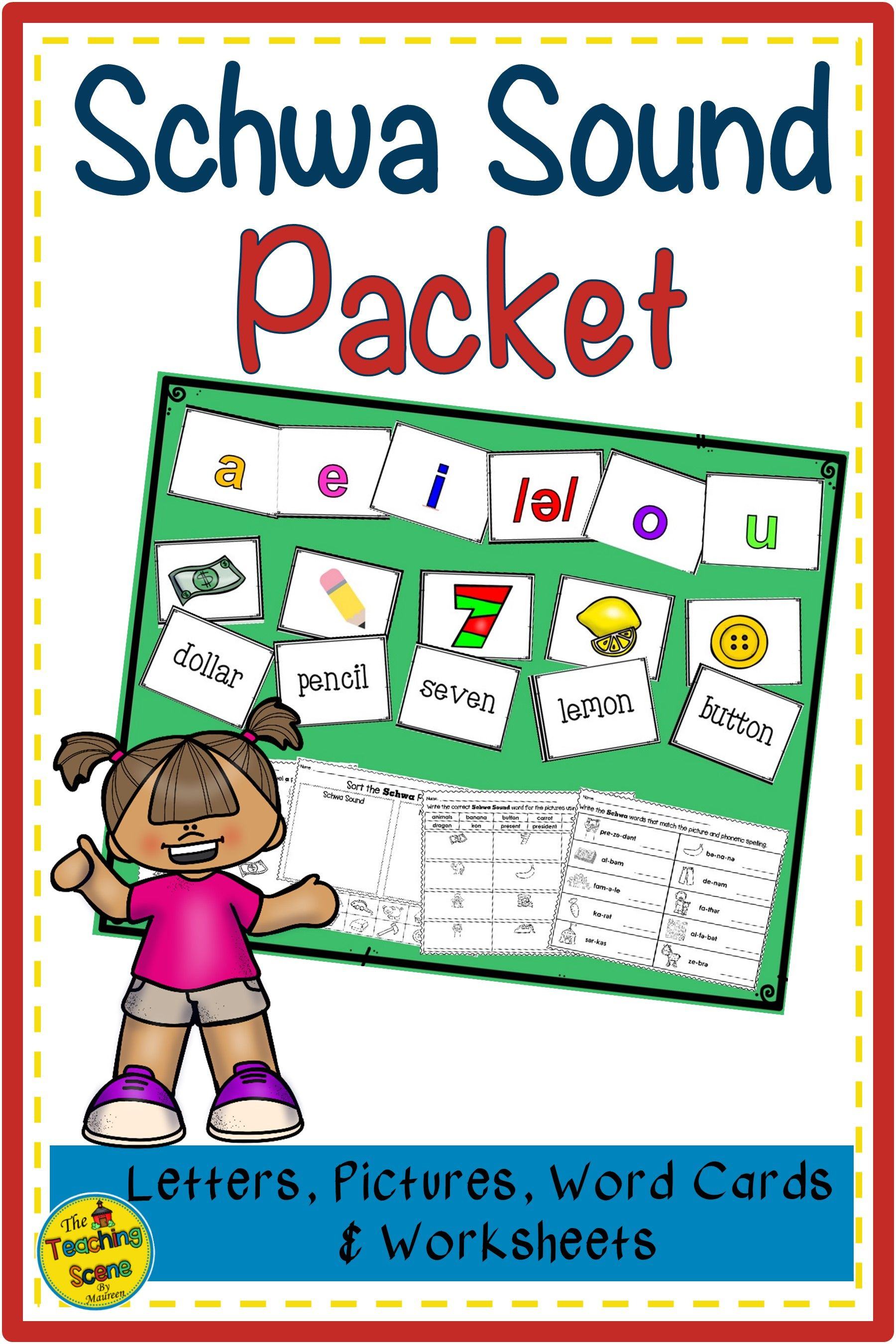 Schwa Sound Packet Letters Pictures Words Amp Worksheets
