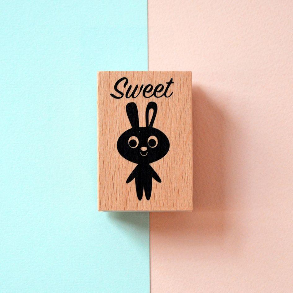 Wooden Ink Stamp with design by Ingela P Arrhenius. Sweet!!!
