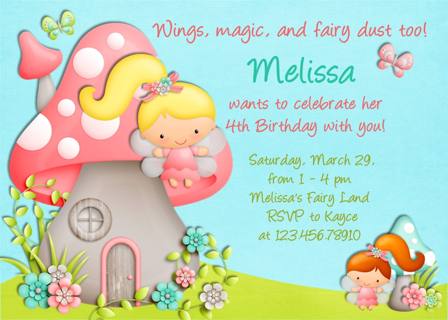 Fairy birthday invitation printable custom fairy invite 1600 fairy birthday invitation printable custom fairy invite 1600 via etsy filmwisefo Choice Image