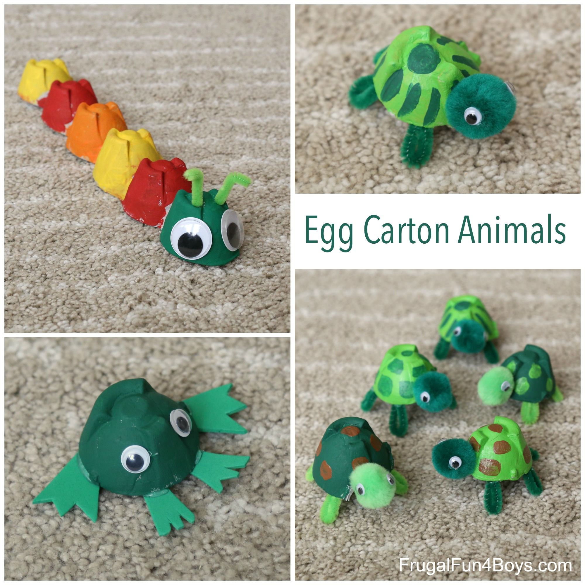 Adorable Egg Carton Turtle Craft And A Caterpillar Frog Too Sylvanian Families Bott Ant 9 Animal Make Turtles Caterpillars Frogs