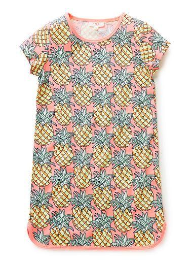 Girls Dresses & Tunics | Pineapple Jersey Dress | Seed Heritage