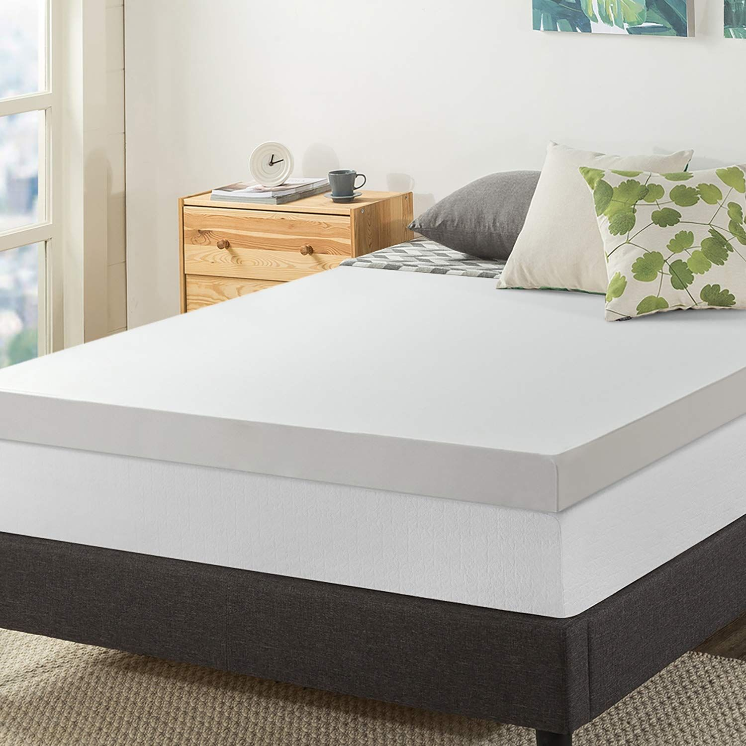 Best Price Mattress 4inch Memory Foam Mattress Topper Full