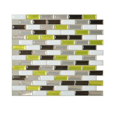 Smart Tiles 10 20 In X 9 L And Stick Mosaic Decorative Tile Backsplash