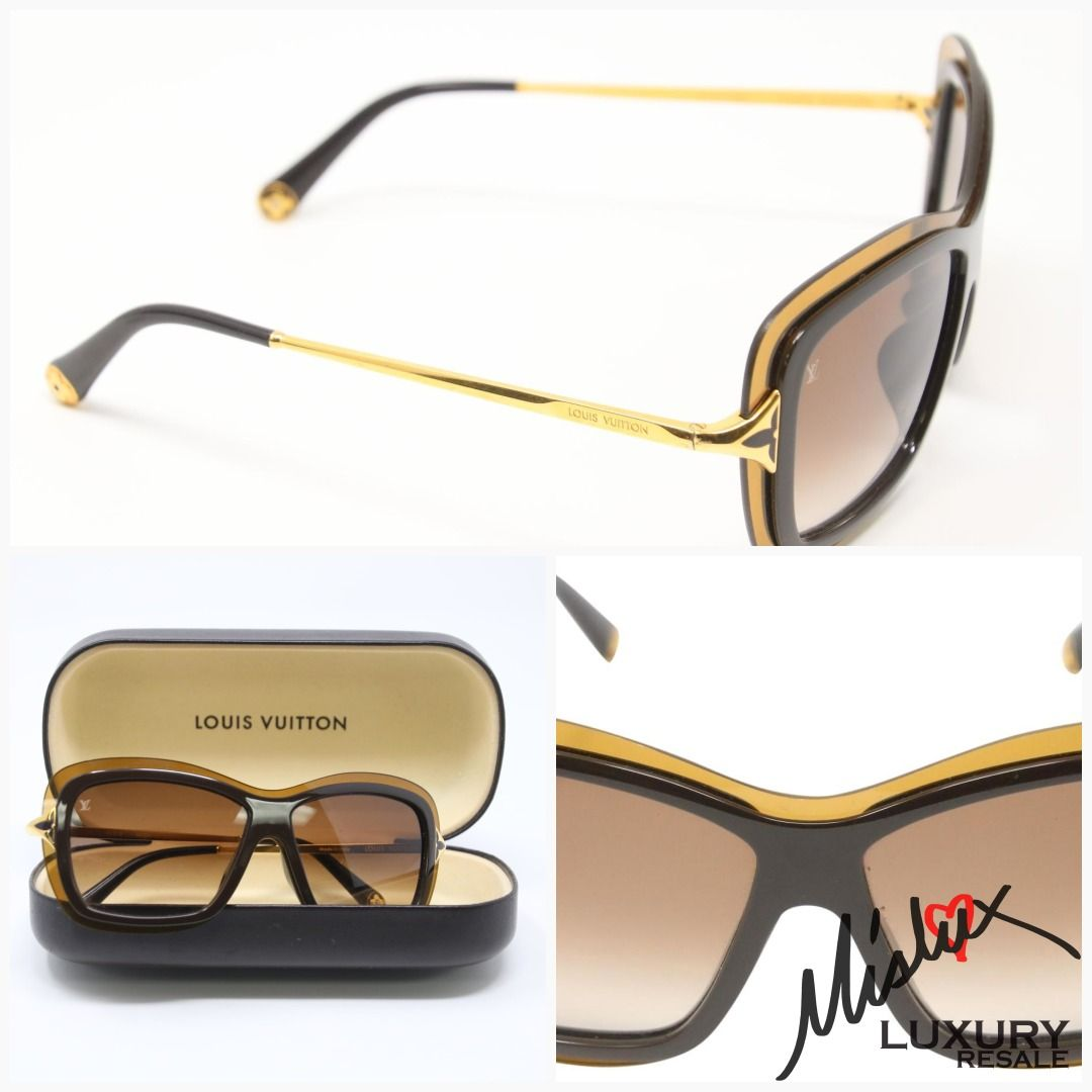 da4534a74f28 Louis Vuitton Quatrefoil Accent Poppy Gold-tone Acetate Sunglasses  #longbeach #santafesprings #lvfriends #purseaddict #womeninbusiness #lvlove  #losangeles ...