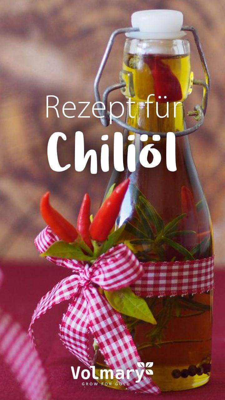 Rezept für Chiliöl mit getrockneten Chilis und Kräutern #kleinekräutergärten