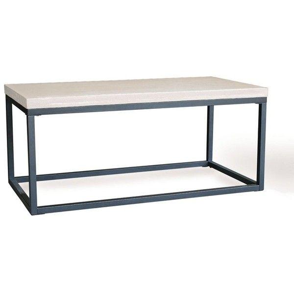 West Elm Slab Box Frame Coffee Table - Rectangle (£230) via Polyvore