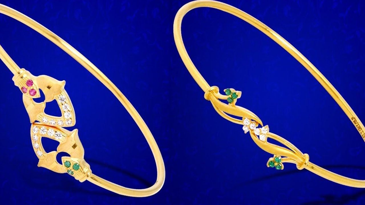Latest gold bracelet designs for women simple daily use jewellery