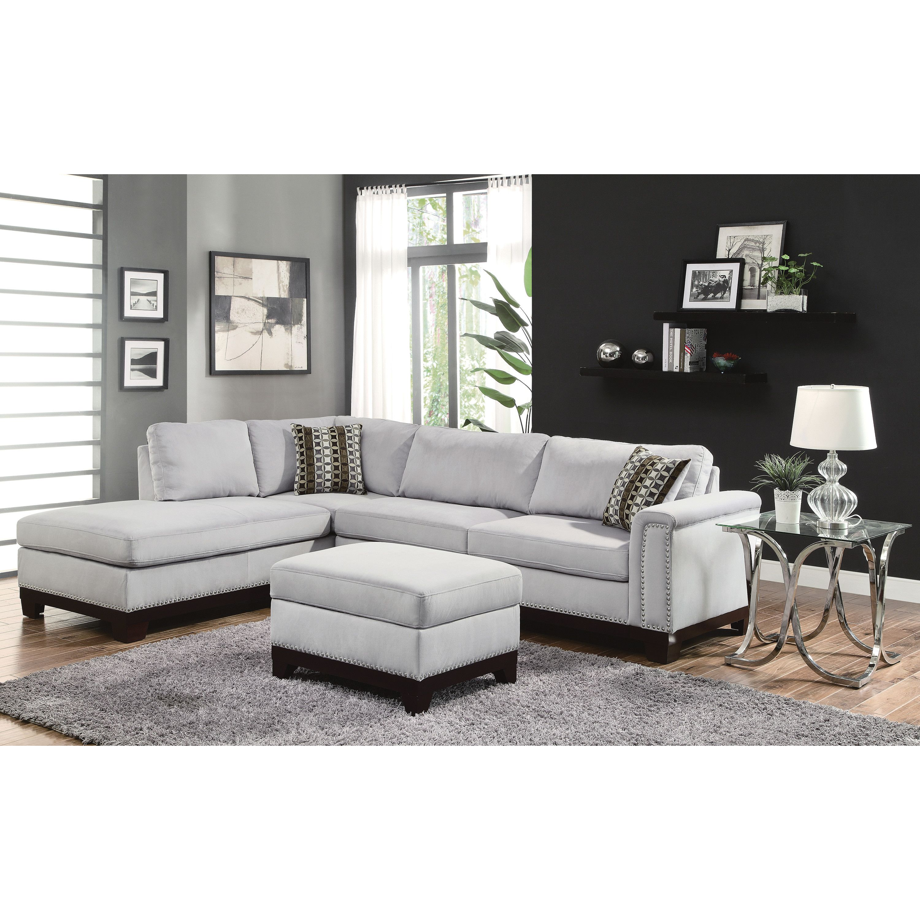 Darby Home Co Carson Reversible Chaise Sectional
