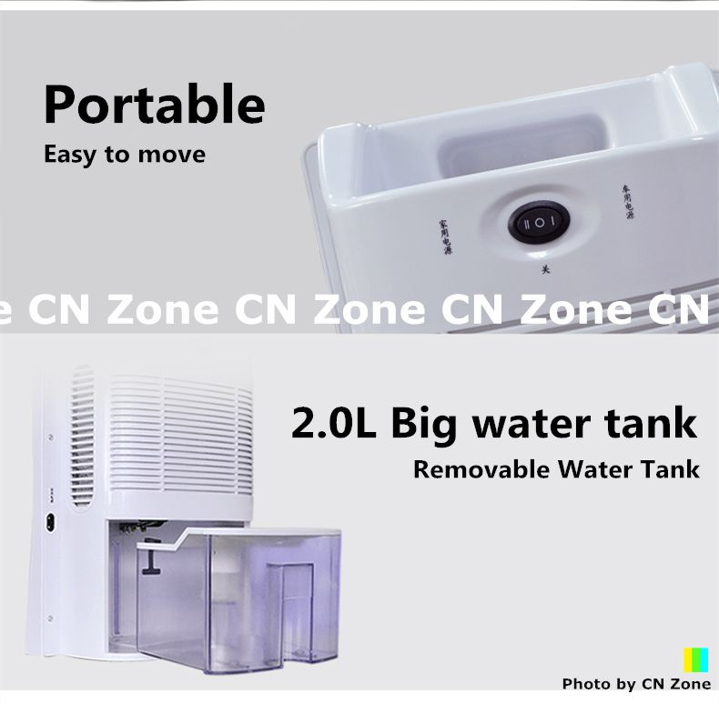 Portable design) ( Easy to move) ( 20L big water tank - deshumidificateur d air maison