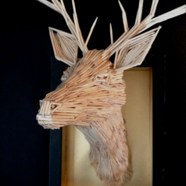 Pin By Leah Olson On Crafternoons Stick Art Match Stick Art Toothpick Sculpture