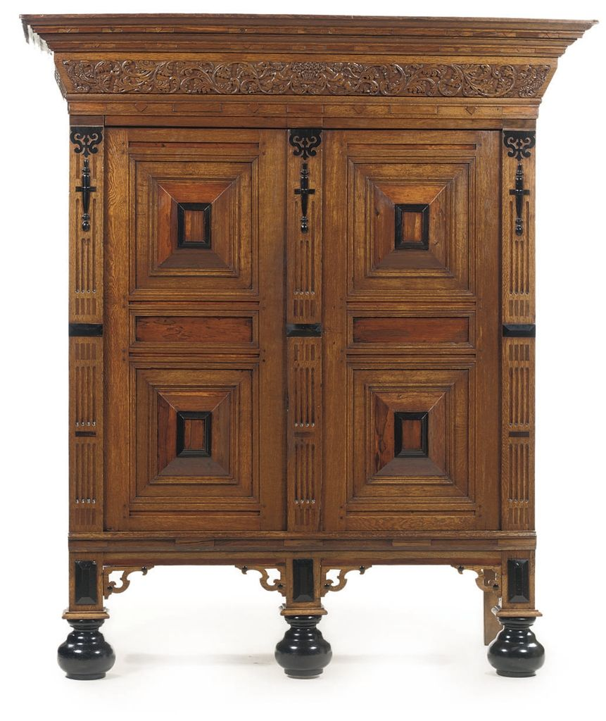 Pair of vintage danish rosewood and brushed steel side cabinets ref - A Dutch Oak Rosewood Walnut And Ebonized Cupboard 19th Century