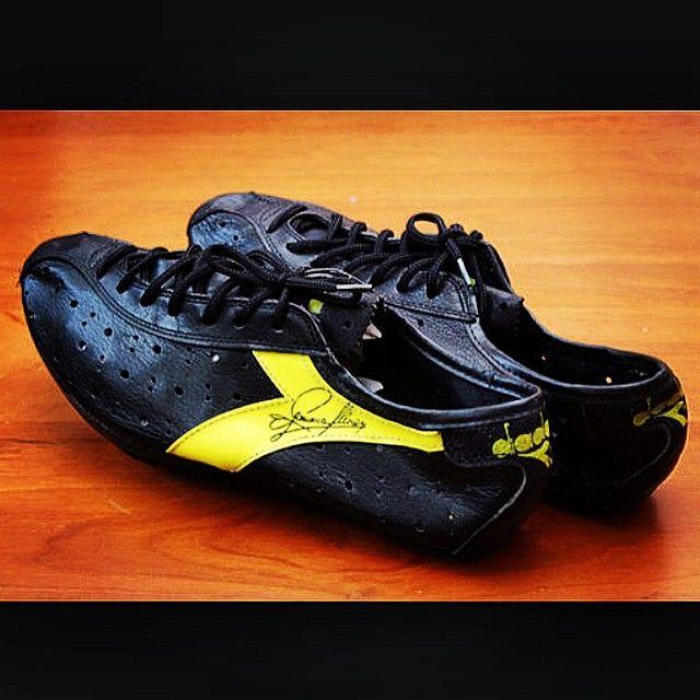 tbt Vintage Diadora cycling shoes worn by Francesco Moser 89