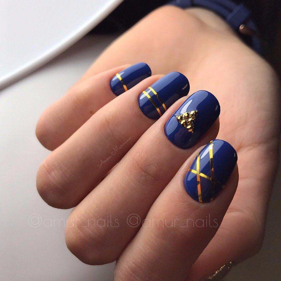 Nail Art #3369 - Best Nail Art Designs Gallery | Blue gel nails ...